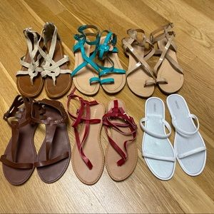 Bundle of 6 pair Forever 21 & Aldo Sandals